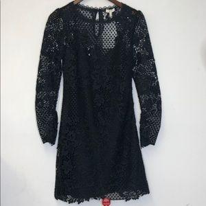 Joie Dress Black Lace Long Sleeve NWT Size 4